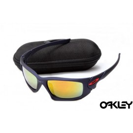 Oakley scalpel sunglasses in matte blue and fire iridium