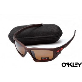 Oakley scalpel sunglasses in dark brown and VR28 for sale