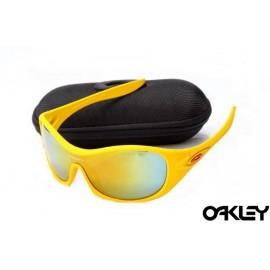 Oakley speechless matte yellow and fire iridium