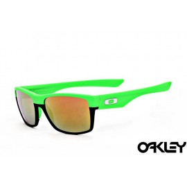 Oakley twoface sunglasses in green and black and fire iridium