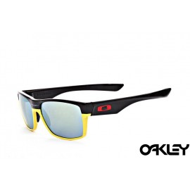 Oakley twoface sunglasses in matte black and yellow and ice iridium