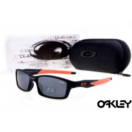 Oakley crosslink sunglasses in matte black and island pink and black iridium