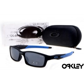Oakley crosslink sunglasses in matte black and blue and black iridium