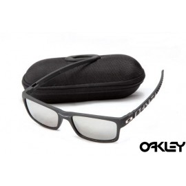 Oakley currency sunglasses in matte black and silver iridium