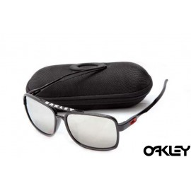 Oakley deviation sunglasses in black and silver iridium