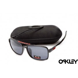 Oakley deviation sunglasses in polished black and grey iridium