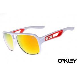 Oakley dispatch II sunglasses in polished white and fire iridium