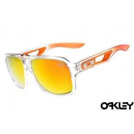 Oakley dispatch II sunglasses in clear and fire iridium