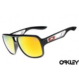 Oakley dispatch II sunglasses in polished black and fire iridium