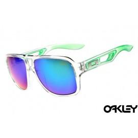 Oakley dispatch II sunglasses in clear green and blue iridium