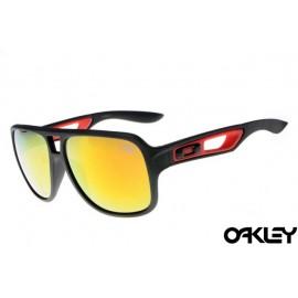 Oakley dispatch II sunglasses in matte blacck and fire iridium