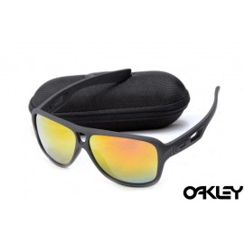 Oakley dispatch II sunglasses in matte black and fire iridium