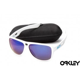 Oakley dispatch II sunglasses in white and blue iridium for sale