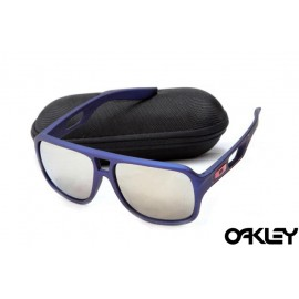 Oakley dispatch II sunglasses in matte blue and silver iridium