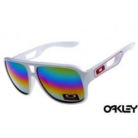 Oakley dispatch II sunglasses in white and camo iridium