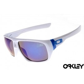 Oakley dispatch sunglasses in polished white and blue iridium