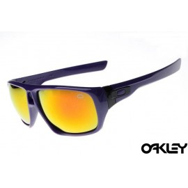 Oakley dispatch sunglasses in purple flare and fire iridium