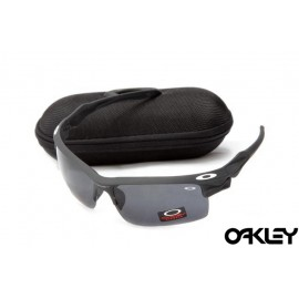 Oakley fast jacket sunglasses in matte black and black iridium