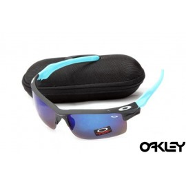 Oakley fast jacket sunglasses in black and blue and ice iridium