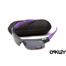 Oakley fast jacket sunglasses in black and cosmo purple and black iridium