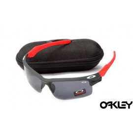 Oakley fast jacket sunglasses in black and red and black iridium