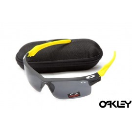 Oakley fast jacket sunglasses in black and neon yellow and black iridium
