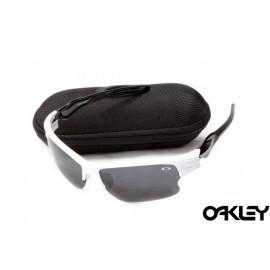 Oakley fast jacket sunglasses in white and polished black and black iridium