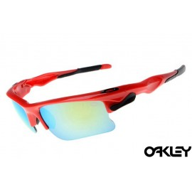 Oakley fast jacket sunglasses in polished red and ruby clear