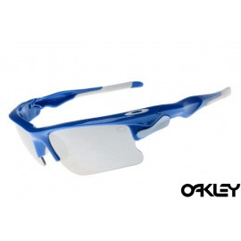 Oakley fast jacket sunglasses in polished blue and grey