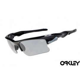 Oakley fast jacket sunglasses in polished black and grey
