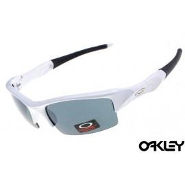 Oakley flak jacket sunglasses in matte white and grey iridium