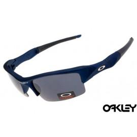 Oakley flak jacket sunglasses in matte blue and black iridium