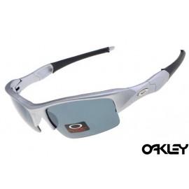 Oakley flak jacket sunglasses in matte grey and grey iridium