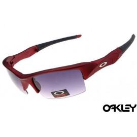 Oakley flak jacket sunglasses in red metallic and grey iridium
