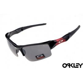 Oakley flak jacket sunglasses in polished black and black iridium