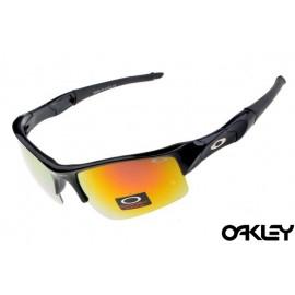 Oakley flak jacket sunglasses in polished black and fire iridium