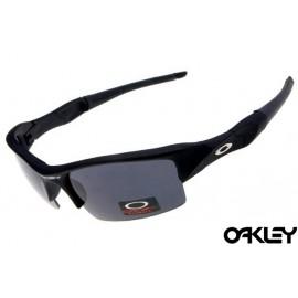 Oakley flak jacket sunglasses in matte black and black iridium
