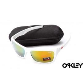 Oakley jury polished matte white and ruby iridium