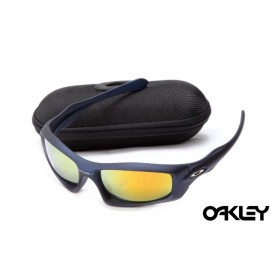 Oakley monster pup artesian blue and fire iridium