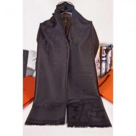 Hermes scarf elegant black silk