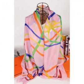 Hermes silk scarf pink