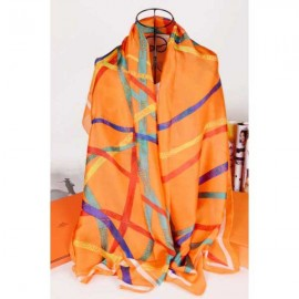 Hermes silk scarf orange
