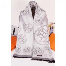 Hermes scarf elegant white silk