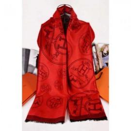 Hermes scarf elegant red silk