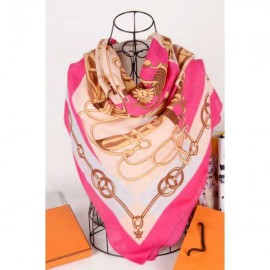 Hermes cotton silk square scarf