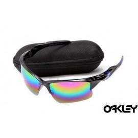 Oakley half jacket 2.0 sunglass polished black and fire iridium