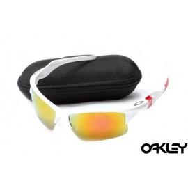 Oakley half jacket 2.0 sunglass white and fire iridium