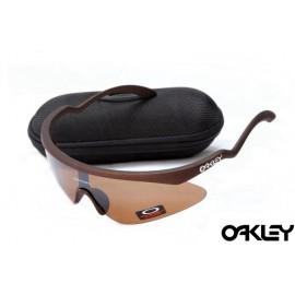 Oakley razor blade new sunglasses in dark brown and VR28