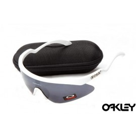 Oakley razor blade new sunglasses in white and black iridium