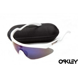 Oakley razor blade new sunglasses in white and ice iridium